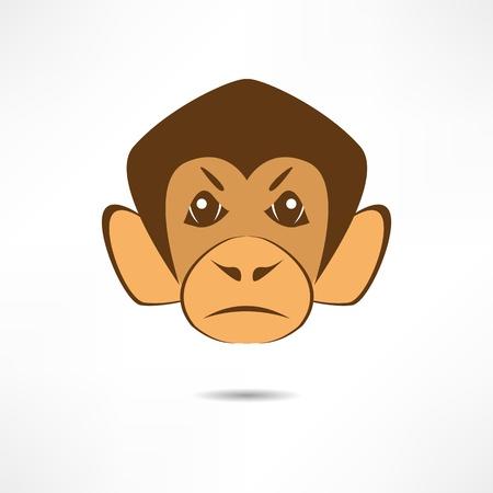 Angry monkey. Stock Vector - 17463658