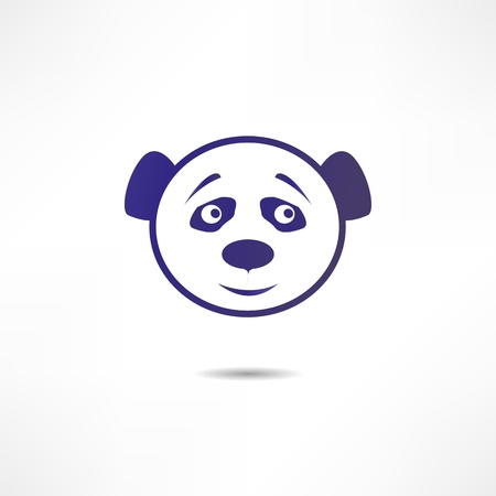 Smiling panda. Vettoriali