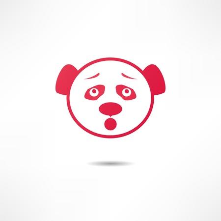 childishness: Surprised panda.