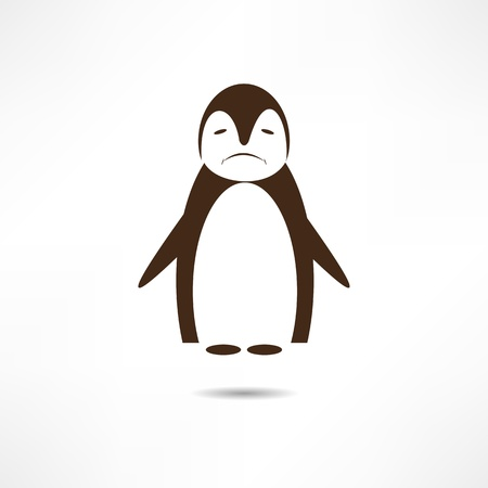 tux: Sad penguin. Illustration