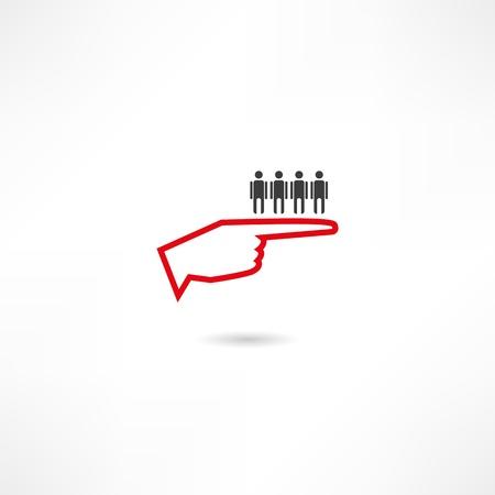 dictatorship: Authoritarianism  icon Illustration