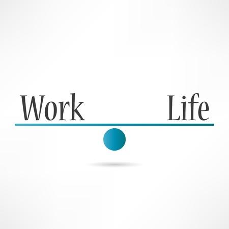 gesundheitsmanagement: Arbeit und Leben-Symbol