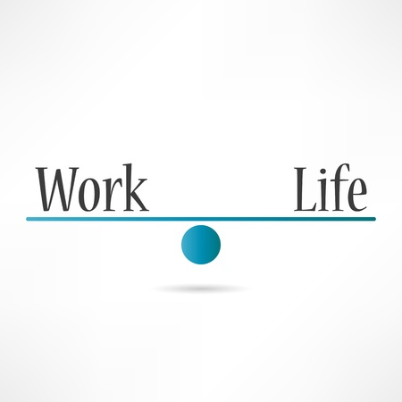 Work and life icon Stock Vector - 17813941