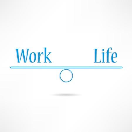 ungleichgewicht: Arbeit und Leben-Symbol