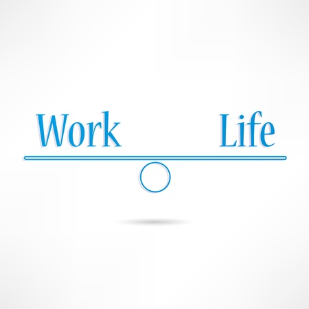 Work and life icon Stock Vector - 17813970