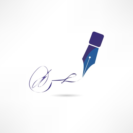 Pen icon Stock Vector - 17813946