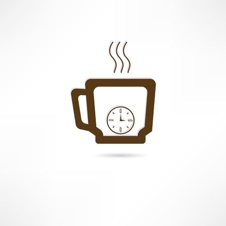 Time for coffee icon Vector