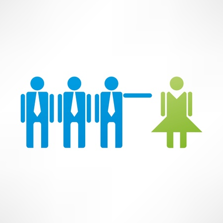 discriminate: Discrimination icon