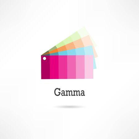 gamut: Gamut icon Illustration