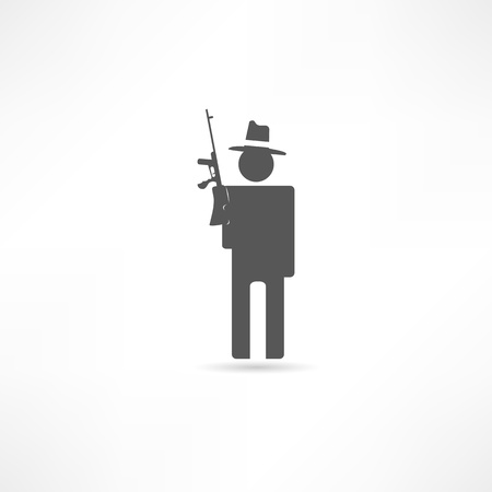 Gangster icon Stock Vector - 17813918