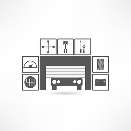Garages icon Vector