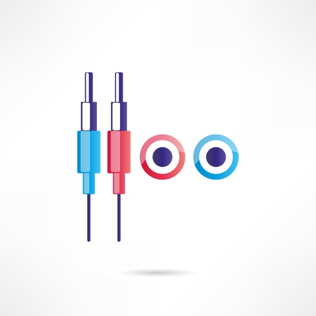 minijack: Audio connectors icon Illustration