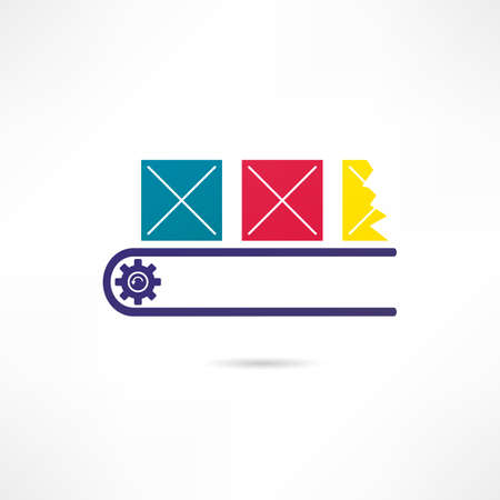 Production line icon Vector