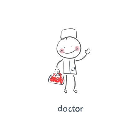 a physician: Doctor. Illustration.