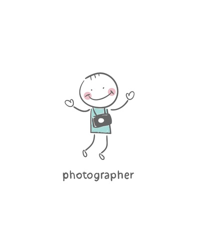 Photographer. Illustration. Vector