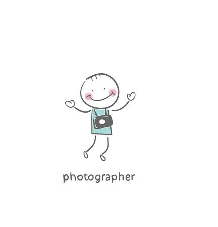 illustration: Photographer. Illustration.