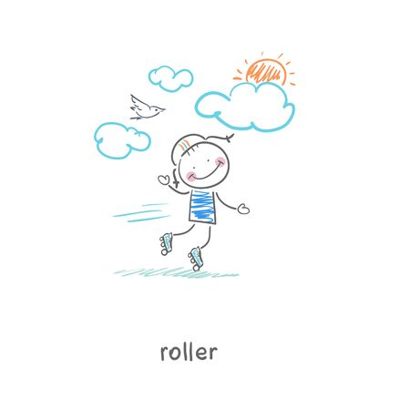 Roller  Illustration