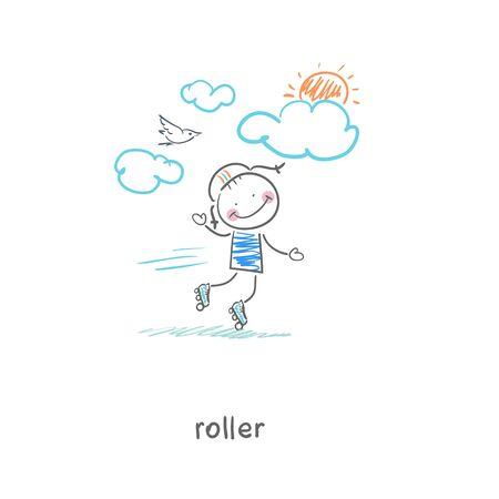 Roller Ilustración Foto de archivo - 17814048