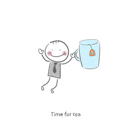 Time for tea  Illustration  Vector