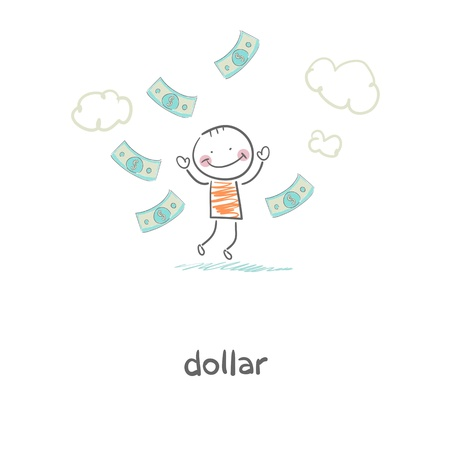 Man and money  Illustration Stock Vector - 17954691