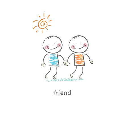 boy friend: Friends  Illustration  Illustration