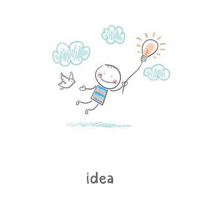 Flug von Ideen Illustration