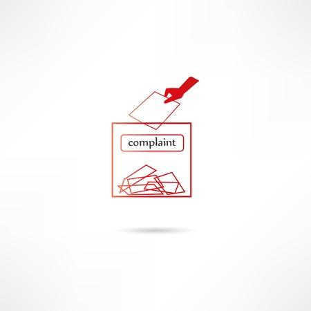 complaint: Complaint icon Illustration