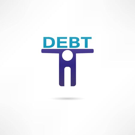 Debt icon Vector