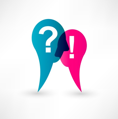 questions: Exclamation mark and question mark icon Illustration