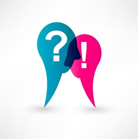 punto di domanda: Punto esclamativo e il punto interrogativo icona Vettoriali