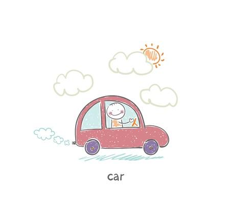nonpolluting: Eco car Illustration