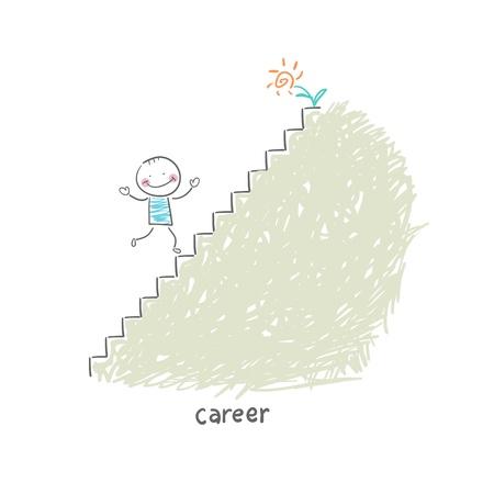 Karriereleiter. Illustration.