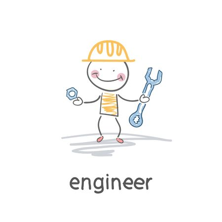 Engineer. Illustration Vector