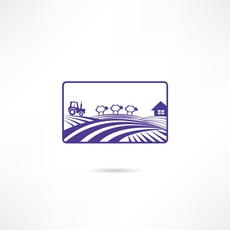 rolling landscape: farm icon