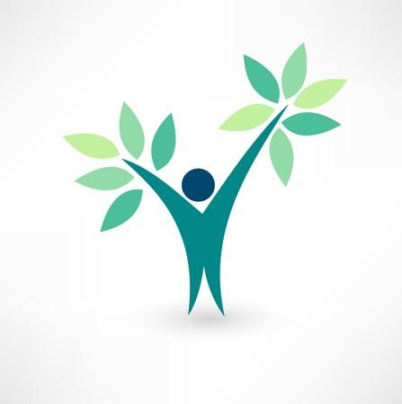 kunden: Eco Menschen Illustration