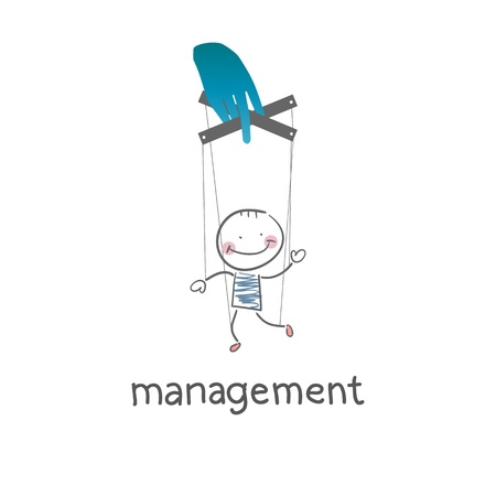 Management. Illustration. Vector