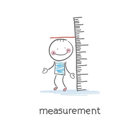 Measurement of growth. Illustration.