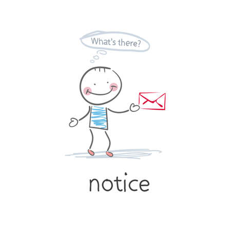Notice . Illustration Stock Vector - 18035588