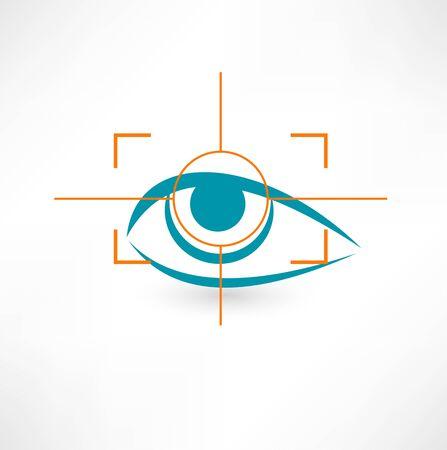 Scannen oogpictogram Stock Illustratie
