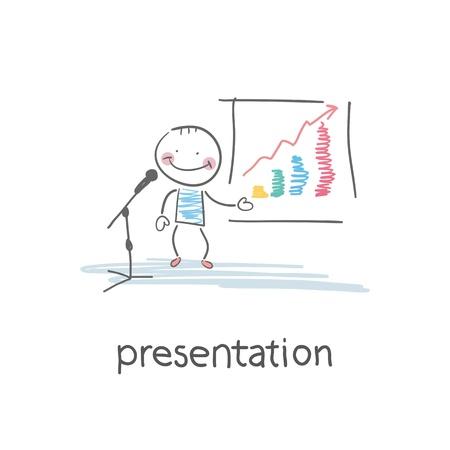 Präsentation. Illustration