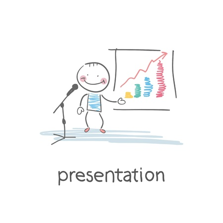 Presentation. Illustration Vector