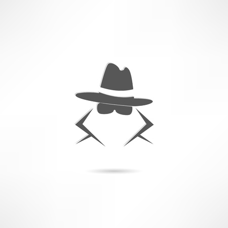 cartoon gangster: spy icon Illustration