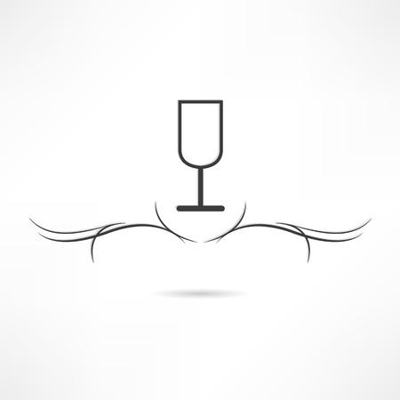 calligraphic design: Calligraphic design element