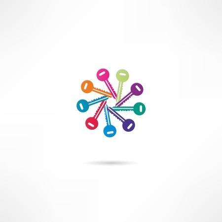 passkey: Key Icon Illustration