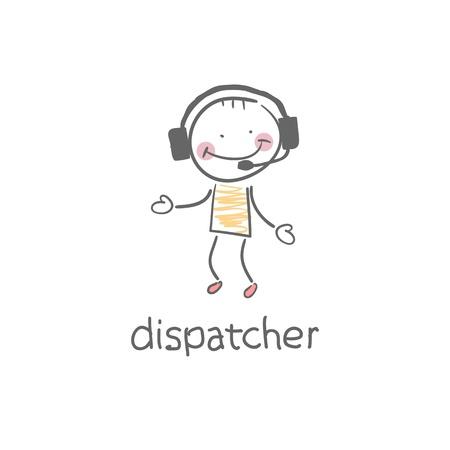 ディスパッチャーの図  イラスト・ベクター素材