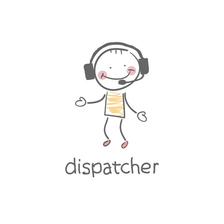 call center office: Dispatcher  Illustration  Illustration