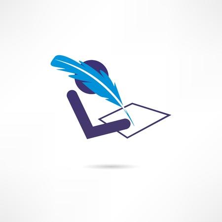 writer icon Stock Vector - 18244907