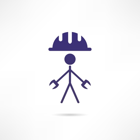 Engineer icon Stock Vector - 18244894