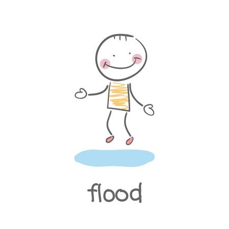 flood  Illustration Stock Vector - 18244654