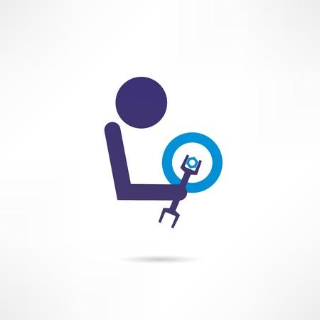 servicing: repair shop icon Illustration